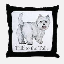 Westie Attitude Throw Pillow