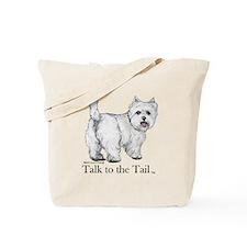 Westie Attitude Tote Bag