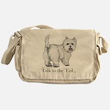 Westie Attitude Messenger Bag