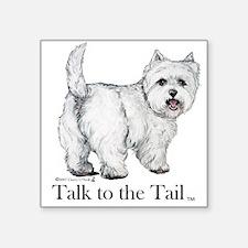 Westie Attitude Sticker