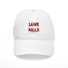Love Kills Skull Baseball Baseball Cap