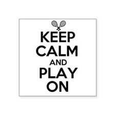 Keep Calm and Play On Sticker