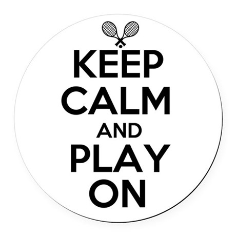Keep Calm and Play On Round Car Magnet
