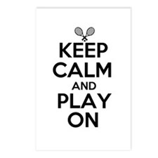 Keep Calm and Play On Postcards (Package of 8)