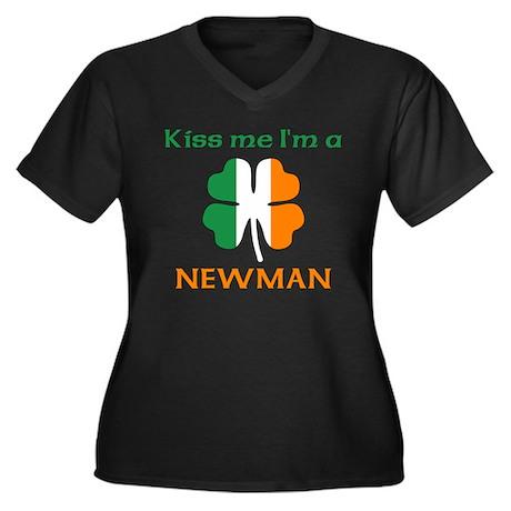 Newman Family Women's Plus Size V-Neck Dark T-Shir