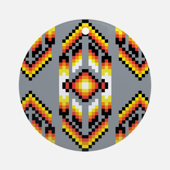 Native American Design Smoke Ornament (Round)