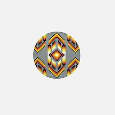 Native American Design Smoke Mini Button