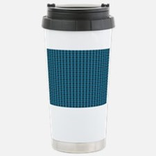 Teal Tartan Pattern Travel Mug