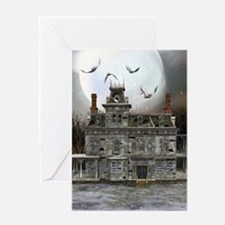 Halloween House Greeting Card