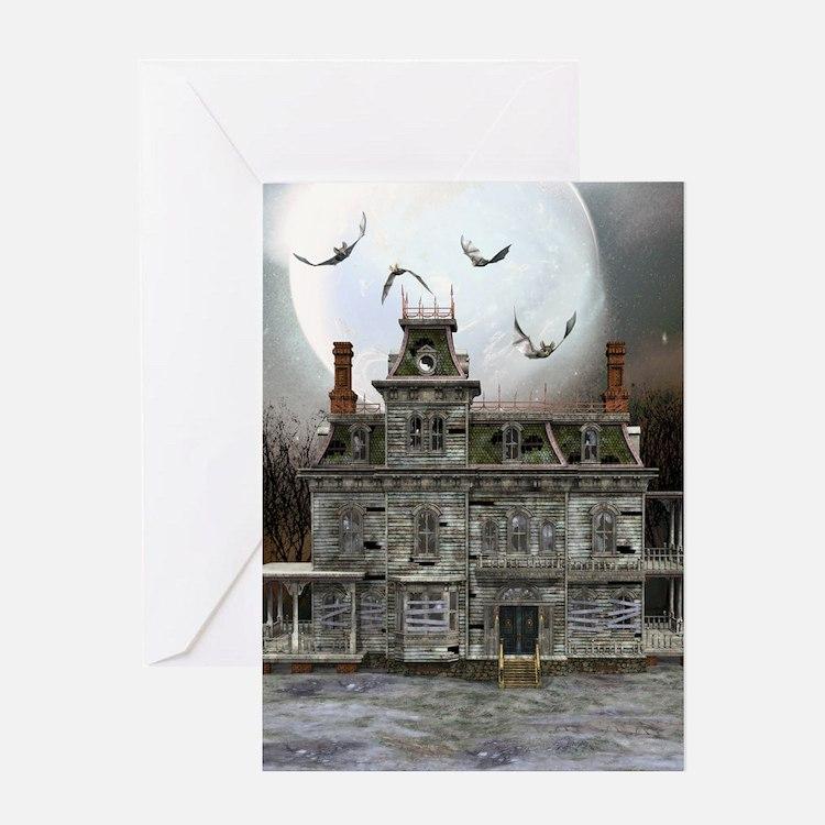 Halloween House Greeting Card