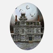 Halloween House Oval Ornament