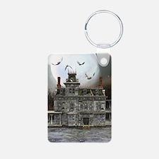 Halloween House Keychains