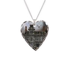 Halloween House Necklace