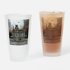 Halloween House Drinking Glass