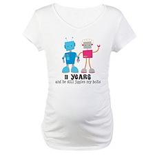 11 Year Anniversary Robot Couple Shirt
