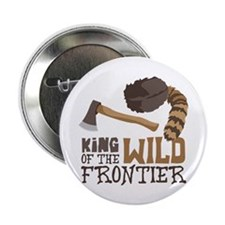 """King of the Wild Frontier 2.25"""" Button (10 pack)"""