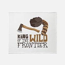 King of the Wild Frontier Throw Blanket