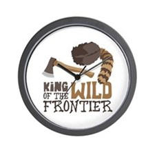 King of the Wild Frontier Wall Clock