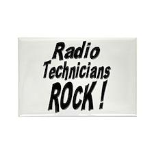 Radio Techs Rock ! Rectangle Magnet