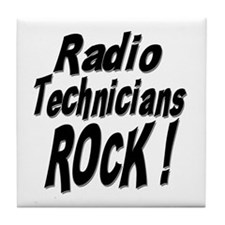 Radio Techs Rock ! Tile Coaster