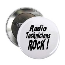Radio Techs Rock ! Button