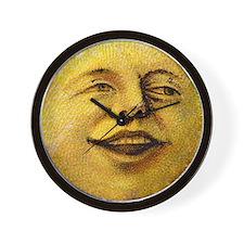 Happy Moon Wall Clock