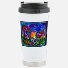 Monarchs at Sunset 5x7  Stainless Steel Travel Mug