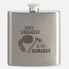 Davy Crockett is My Homeboy Flask