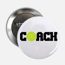 "Tennis Coach 2.25"" Button"