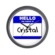 hello my name is cristal  Wall Clock