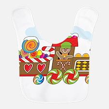 Gingerbread Train Bib