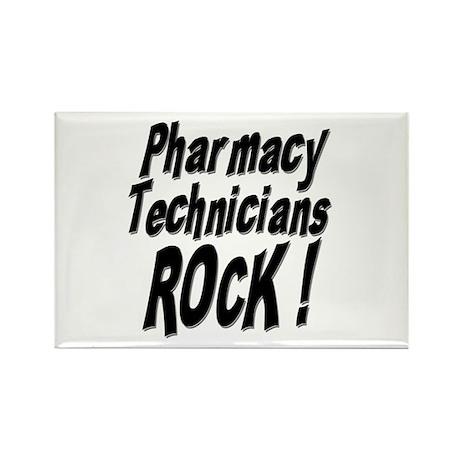 Pharmacy Techs Rock ! Rectangle Magnet (10 pack)