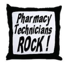 Pharmacy Techs Rock ! Throw Pillow