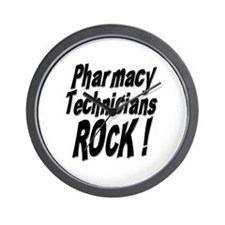 Pharmacy Techs Rock ! Wall Clock