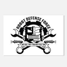 Strk3 Robot Defense Force Postcards (Package of 8)