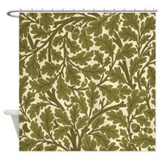 Morris Oak Tree Design Shower Curtain
