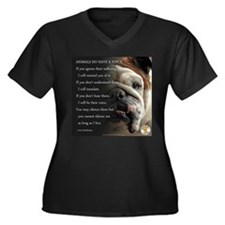 VOICE OF ANIMALS Plus Size T-Shirt