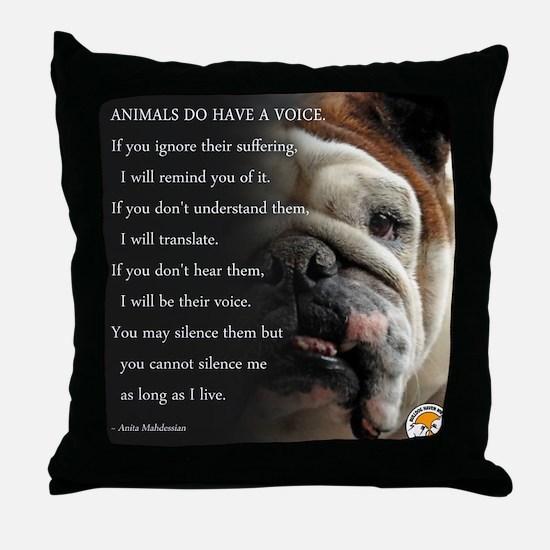 VOICE OF ANIMALS Throw Pillow