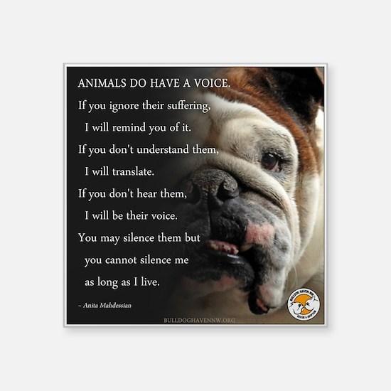 VOICE OF ANIMALS Sticker