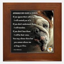 VOICE OF ANIMALS Framed Tile