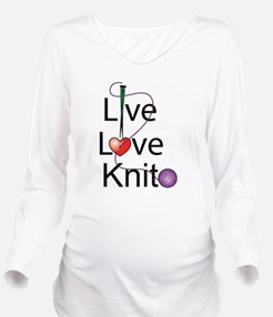 live_love_knit.png Long Sleeve Maternity T-Shirt