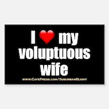"""Love My Voluptuous Wife"" Sticker (Rectangle)"