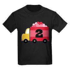 2nd Birthday Valentine Truck T-Shirt