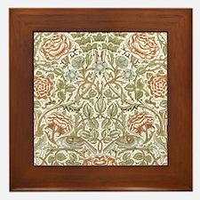 William morris Rose Framed Tile