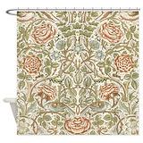 William morris rose Shower Curtains