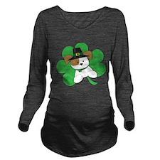 Irish Puppy Long Sleeve Maternity T-Shirt