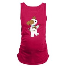 Cute Puppy Ukulele Maternity Tank Top
