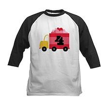 4th Birthday Heart Truck Tee