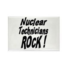 Nuclear Technicians Rock ! Rectangle Magnet