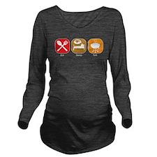 eat_sleep_grill.jpg Long Sleeve Maternity T-Shirt